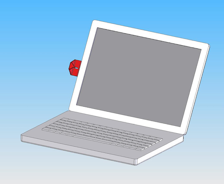 6005r red viewing gauge on laptop