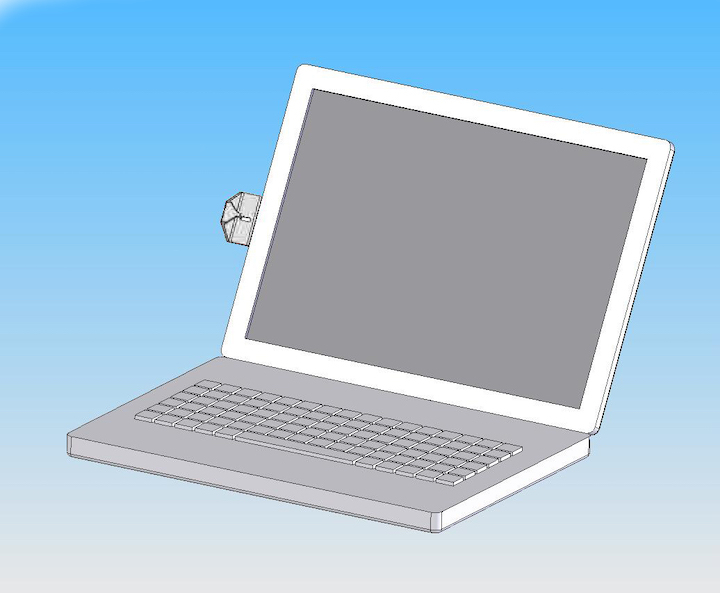 6005s silver viewing gauge on laptop